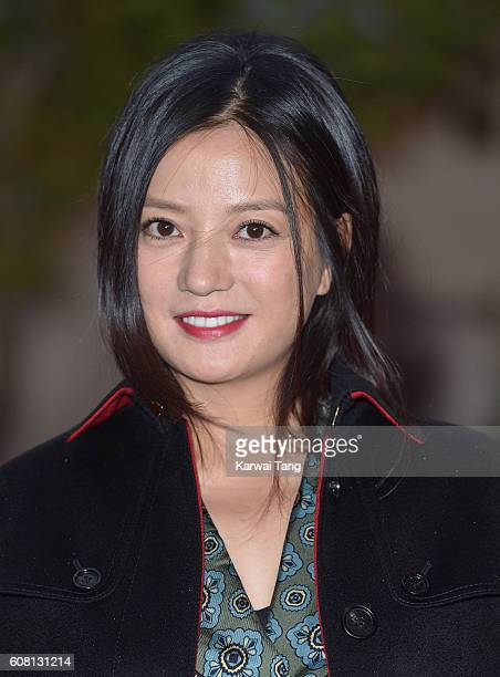 Vicky Zhao attends the Burberry show during London Fashion Week Spring/Summer collections 2016/2017 at Makers House on September 19 2016 in London...