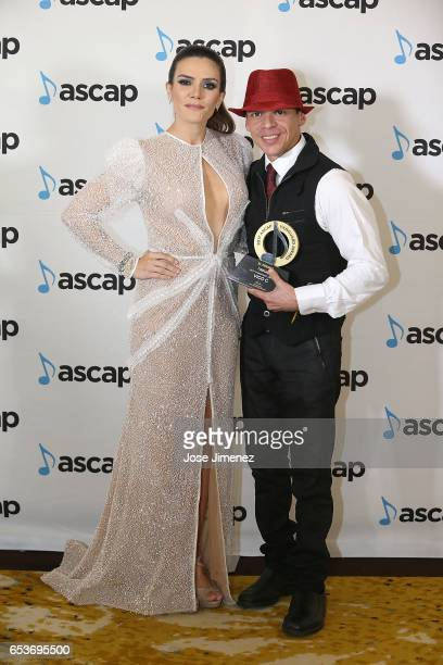 Vico C with Vanguard Award and ASCAP Writer Kany Garcia pose as part of ASCAP Latin Music Awards at Condado Vanderbilt Hotel on March 15 2017 in San...