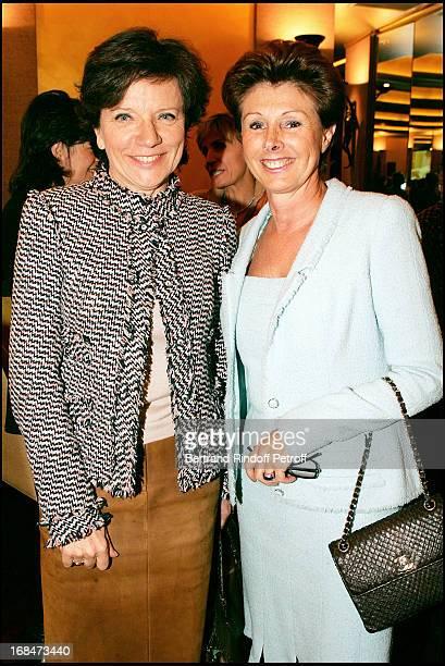 Vicomtesse De La Beraudiere and MarieLouise de ClermontTonnerre at Women's Luncheon For Action Innocence At Park Hyatt Paris Vendome
