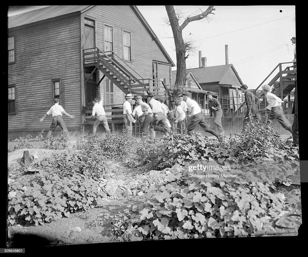 Violence during the 1919 Chicago Race Riots : Photo d'actualité