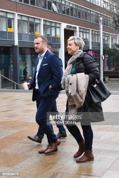 Victim of former football coach Barry Bennell Micky Fallon arrives at Liverpool Crown Court on February 19 2018 where Bennell is to be sentenced...