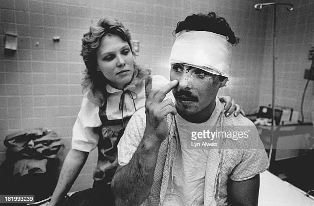 Victim of the bridge collapse University Hospital Emergency Room between 6-7 am Tim Lobato and his wife, Debbie;