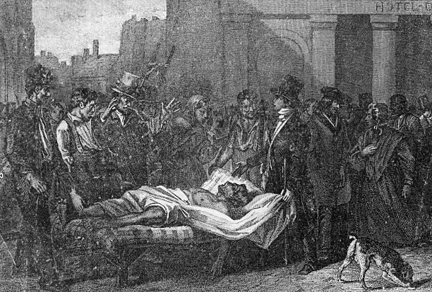 A victim of the cholera epidemic in Paris, 1832. Around...