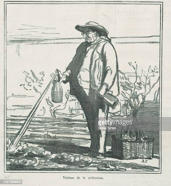 Victim of the drought, from 'News of the day,' published in Le Charivari, July 16 'News of the day' , Honore Daumier , Lithograph on newsprint;...