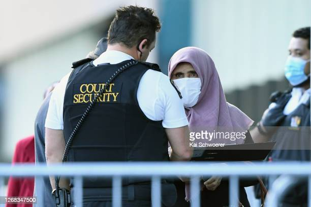 Victims arrive at Christchurch High Court prior to the sentencing hearing of Brenton Harrison Tarrant on August 25 2020 in Christchurch New Zealand...