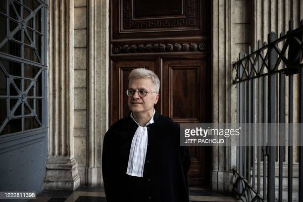 Victims lawyer Christophe Leguevaques looks on at the courthouse of Lyon centraleastern France on June 25 after the ruling in the appeal trial of...