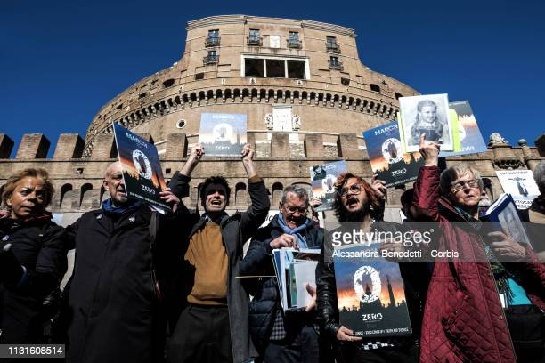Victims of Catholic clergy sex abuse and their relatives attend the March to Zero Tolerance with members of ECA on February 23 2019 in Rome Italy The...