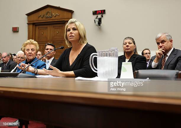 Victims of salmonella outbreak Carol Lobato and Sarah Lewis testify during a hearing before the Oversight and Investigations Subcommittee of the...