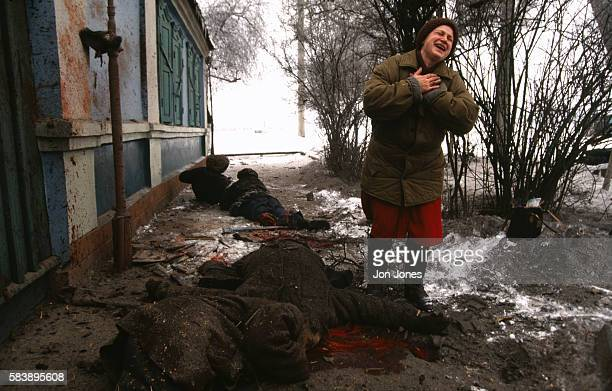 Victims of the Chechen civil war in Grozny