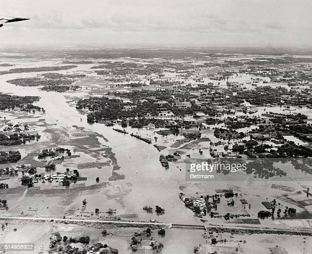 Victims of the devastating floods in East Pakistan recently received 15 tons of U.S. Medical aid flown in by Air Force Globemasters from Japan. The...