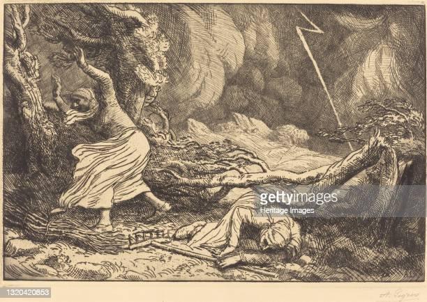 Victims of the Lightning . Artist Alphonse Legros.