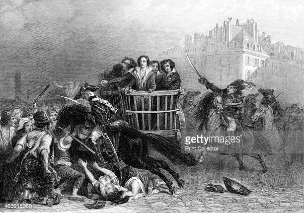 Victims of the Terror French Revolution 1794 The last victims of the Reign of Terror being taken to the guillotine in a tumbril The Terror was...