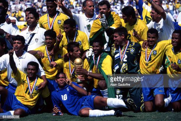 Victoire Bresil Bresil / Italie Finale Coupe du Monde 1994 Photo Alain Gadoffre / Icon Sport