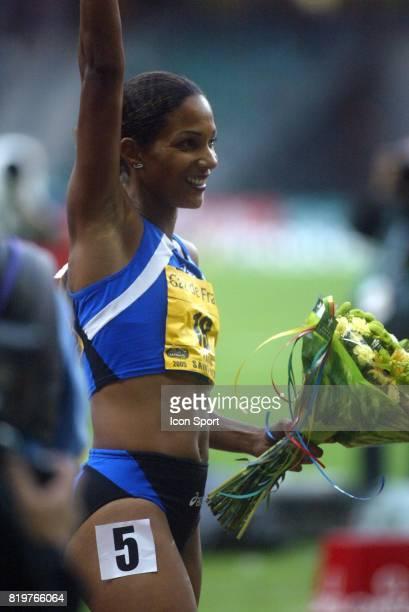 Victoire Christine ARRON 100m Meeting Gaz de France 2005 Stade de France St Denis