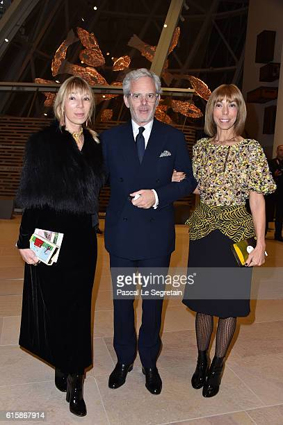 Victoire de Castellane a guest and Mathilde Favier attend a Cocktail for the opening of 'Icones de l'Art Moderne La Collection Chtchoukine'at...