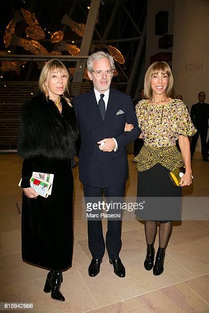 Victoire de Castellane a guest and Mathilde Favier attend the 'Icones de l'Art Moderne La Collection Chtchoukine' at Fondation Louis Vuitton on...