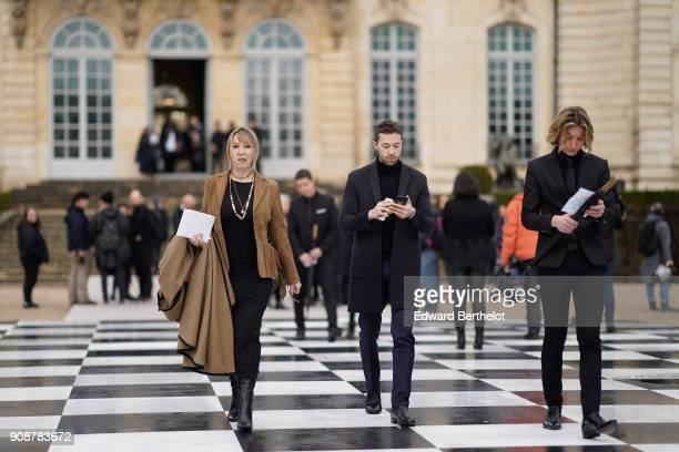 Victoire de Castellane and Boni Reiffers attend the Christian Dior Haute Couture Spring Summer 2018 show as part of Paris Fashion Week on January 22...
