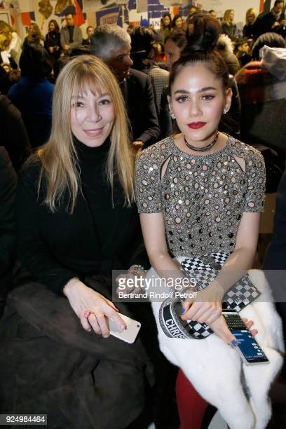Victoire de Castellane and Chompoo attend the Christian Dior show as part of the Paris Fashion Week Womenswear Fall/Winter 2018/2019 on February 27...