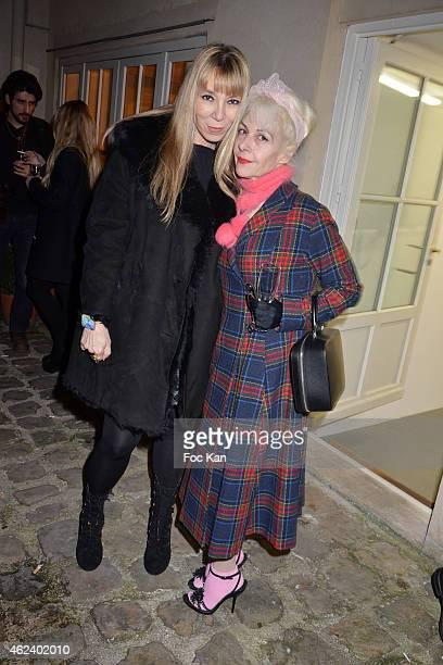 Victoire de Castellane and Fifi Chachnil attend the launch of Elie Top Launch First 'Joaillerie Haute Fantaisie' Collection as part of Paris Fashion...