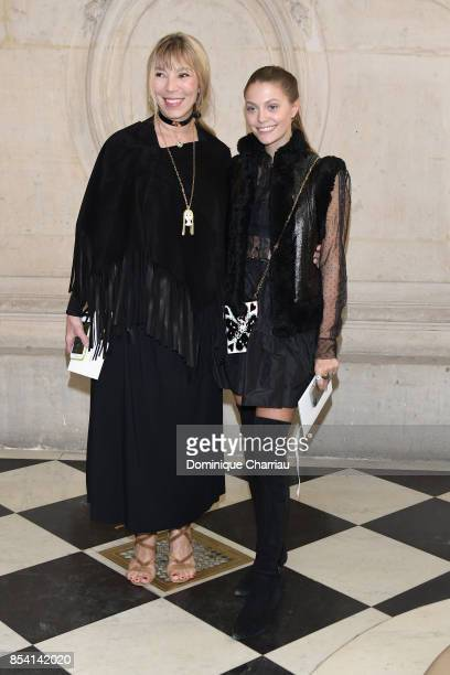 Victoire de Castellane and Heloise Agostinelli attend the Christian Dior show as part of the Paris Fashion Week Womenswear Spring/Summer 2018 on...
