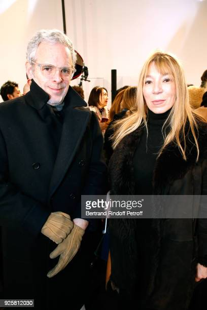 Victoire de Castellane and her husband Thomas Lenthal attend the Chloe show as part of the Paris Fashion Week Womenswear Fall/Winter 2018/2019 on...