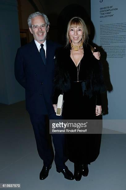 Victoire de Castellane and her husband Thomas Lenthal attend the 'Icones de l'Art Moderne La Collection Chtchoukine' Cocktail at Fondation Louis...
