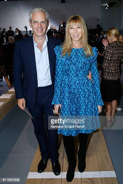 Victoire de Castellane and her husband Thomas Lenthal attend the Christian Dior show as part of the Paris Fashion Week Womenswear Spring/Summer 2017...