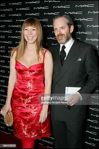 Victoire De Castellane and husband Thomas at Diana Ross As MAC Cosmetics 2005 Beauty Icon Spokesmodel