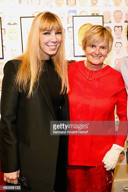 Victoire de Castellane and Princess Gloria von Thurn und Taxis attend the 'Voila Cherie' Gloria von Thurn und Taxis Exhibition opening party at...