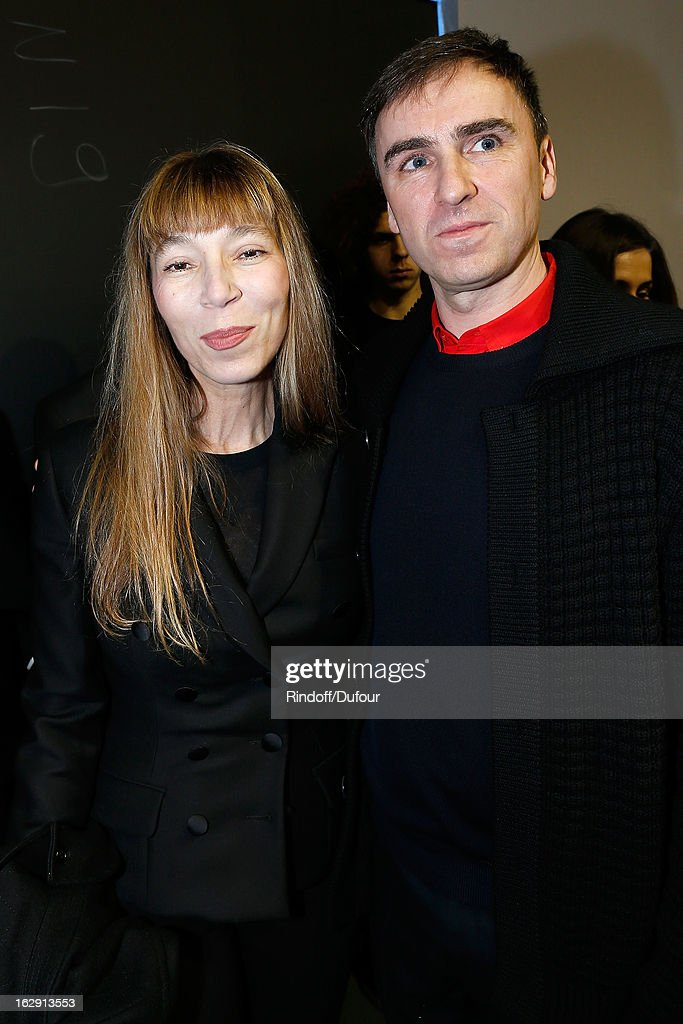 Victoire de Castellane and Raf Simons attend the Christian Dior Fall/Winter 2013 Ready-to-Wear show as part of Paris Fashion Week on March 1, 2013 in Paris, France.