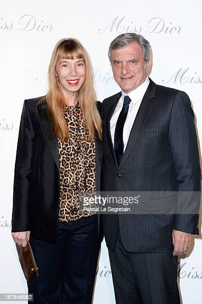 Victoire de Castellane and Sidney Toledano attend a photocall for 'Esprit Dior Miss Dior' exhibtion opening at Grand Palais on November 12 2013 in...