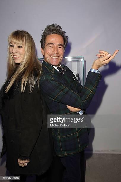 Victoire de Castellane and Vincent Darre attend the Launch Elie Top 'Haute Joaillerie Fantaisie' Collection on January 27 2015 in Paris France