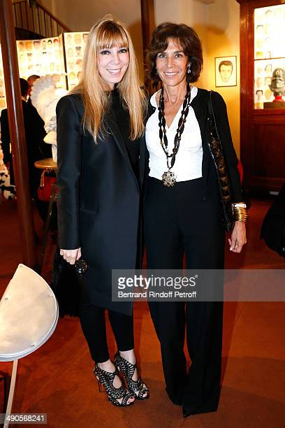 Victoire de Castellane and writer Christine Orban attend the 'Voila Cherie' Gloria von Thurn und Taxis Exhibition opening party at Galerie Passebon...