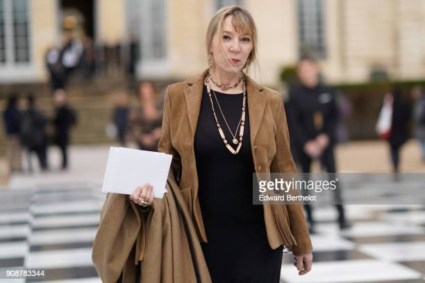 Victoire de Castellane attends the Christian Dior Haute Couture Spring Summer 2018 show as part of Paris Fashion Week on January 22 2018 in Paris...