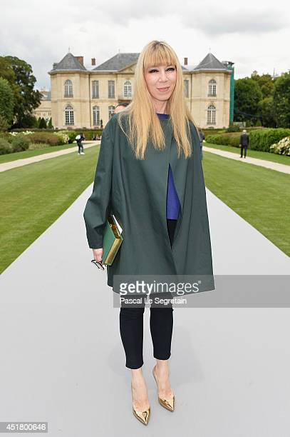 Victoire de Castellane attends the Christian Dior show as part of Paris Fashion Week Haute Couture Fall/Winter 20142015 on July 7 2014 in Paris France