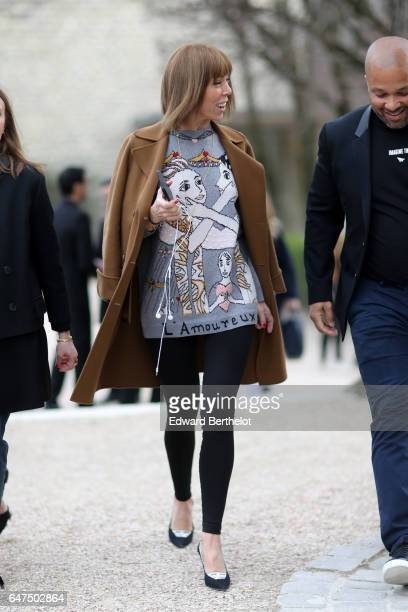 Victoire de Castellane attends the Christian Dior show as part of the Paris Fashion Week Womenswear Fall/Winter 2017/2018 on March 3 2017 in Paris...