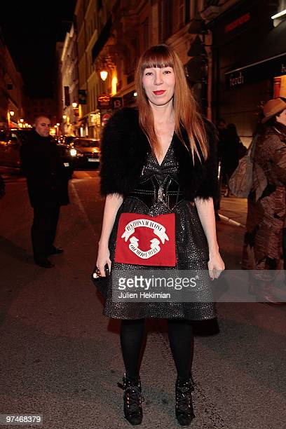 Victoire de Castellane attends the cocktail party honouring Pierre and Olympia Le Tan at Maison Darre on March 5 2010 in Paris France