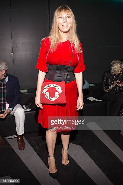 Victoire de Castellane attends the Olympia Le Tan show as part of the Paris Fashion Week Womenswear Spring/Summer 2017 on October 3 2016 in Paris...