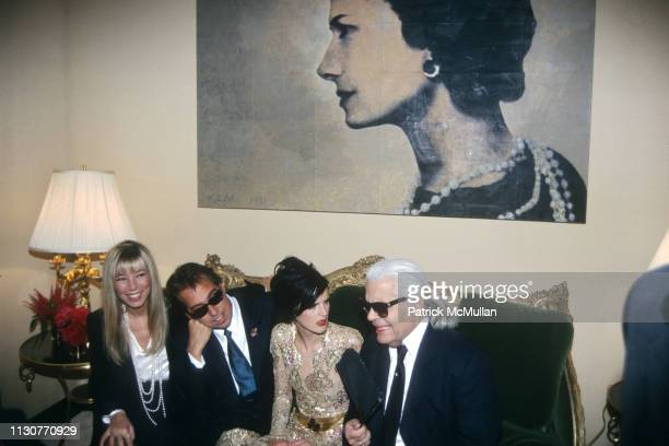 Victoire de Castellane Gilles Dufour Stella Tennant and Karl Lagerfeld attend Grand Opening of Chanel Flagship Boutique on May 30 1996 in New York...