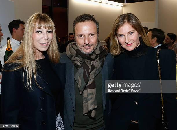 Victoire de Castellane Olivier Bialobos and Elizabeth Von Guttman attend LVMH Prize SemiFinalists Designers Cocktail Party on February 26 2014 in...