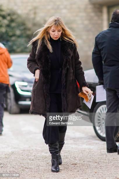 Victoire de Castellane outside Dior during Paris Fashion Week Womenswear Fall/Winter 2018/2019 on February 27 2018 in Paris France