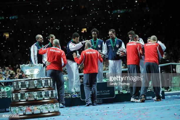 Victoire Serbie - Deception France - - France / Serbie - Finale Coupe Davis 2010 - Belgrade - Serbie,