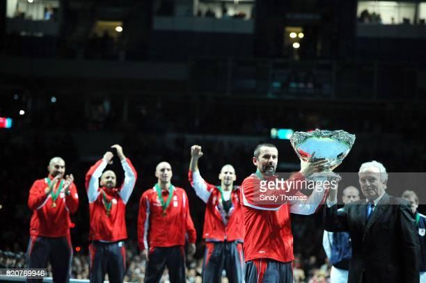 Victoire Serbie - Nenad ZIMONJIC / TIPSAREVIC / Viktor TROICKI / Novak Djokovic / Bogdan Obradovic - - France / Serbie - Finale Coupe Davis 2010 -...