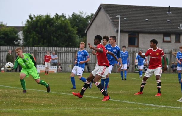 GBR: Manchester United U16 v Coleraine: SuperCupNI