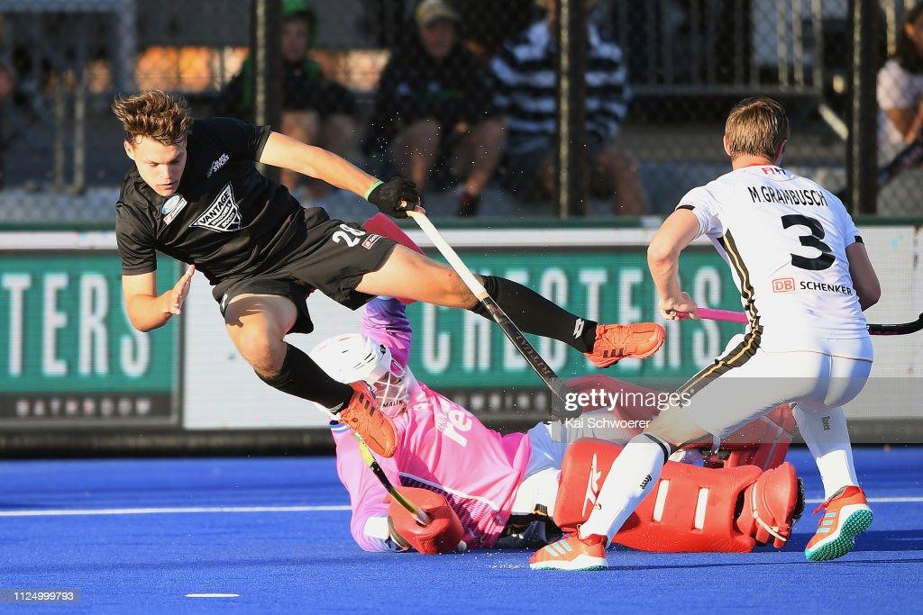NZL: New Zealand v Germany - Men's FIH Field Hockey Pro League