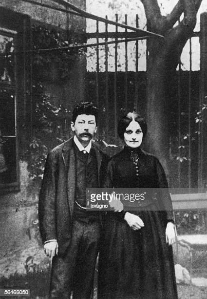 Victor and Emma Adler as a young couple Victor Adler was a politician and founder of the socialist party in Austria Photography um 1880 [Victor und...