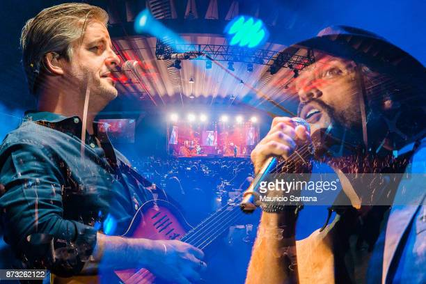 Victor and Leo performs live on stage at Atibaia Amuse Hall on November 11 2017 in Atibaia Brazil