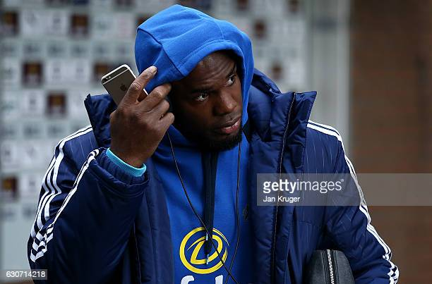 Victor Anichebe of Sunderland arrives ahead of the Premier League match between Burnley and Sunderland at Turf Moor on December 31, 2016 in Burnley,...