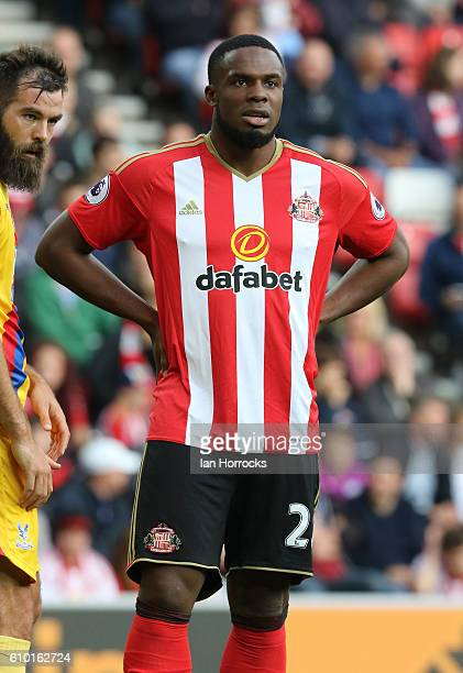 Victor Anichebe of Sunderland during the Premier League match between Sunderland and Crystal Palace at Stadium of Light on September 24 2016 in...