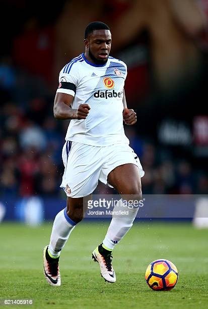 Victor Anichebe of Sunderland in action during the Premier League match between AFC Bournemouth and Sunderland at Vitality Stadium on November 5 2016...